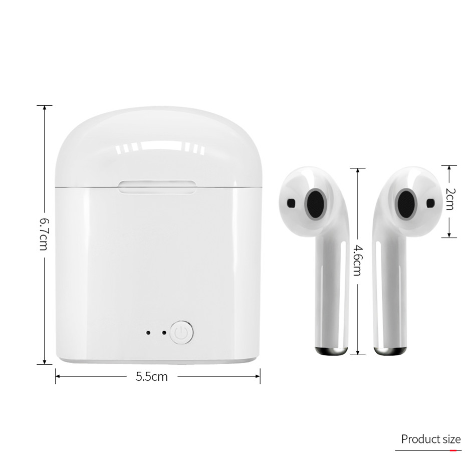 i7s Tws Wireless Headphones Bluetooth Earphones Earbuds Handsfree in ear Headset with Charging Box Mic For iPhone huawei Xiaomi